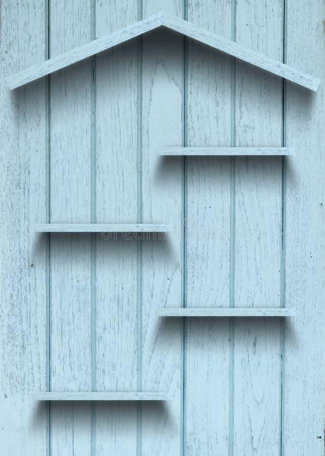Figura di legno della casa della mensola dell'annata immagine stock libera da diritti
