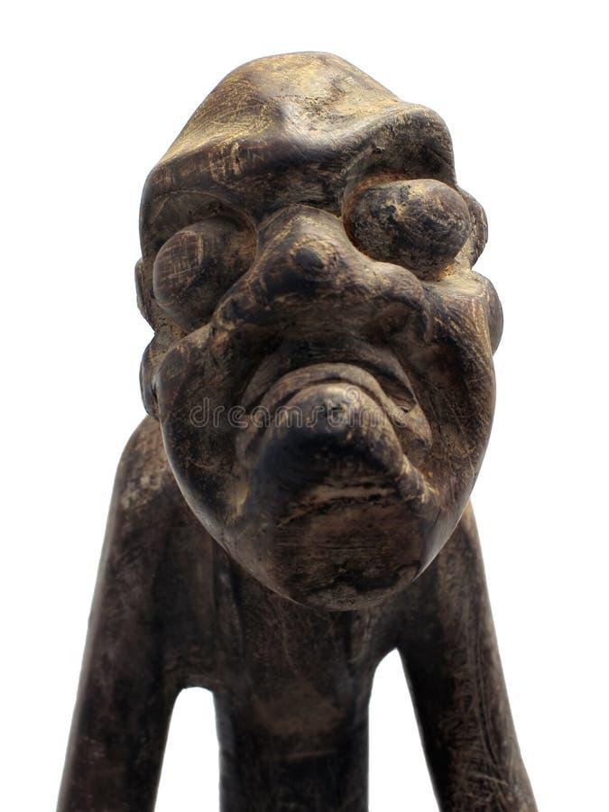 Figura di legno maschio intagliata oggetto d'antiquariato fotografia stock