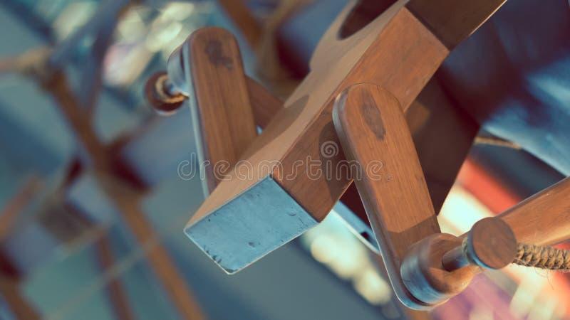 Figura di legno modello del manichino della bambola fotografia stock libera da diritti