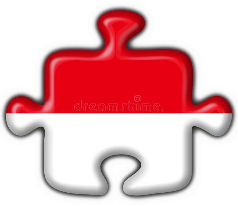 Figura di puzzle della bandierina del tasto dell'Indonesia illustrazione vettoriale