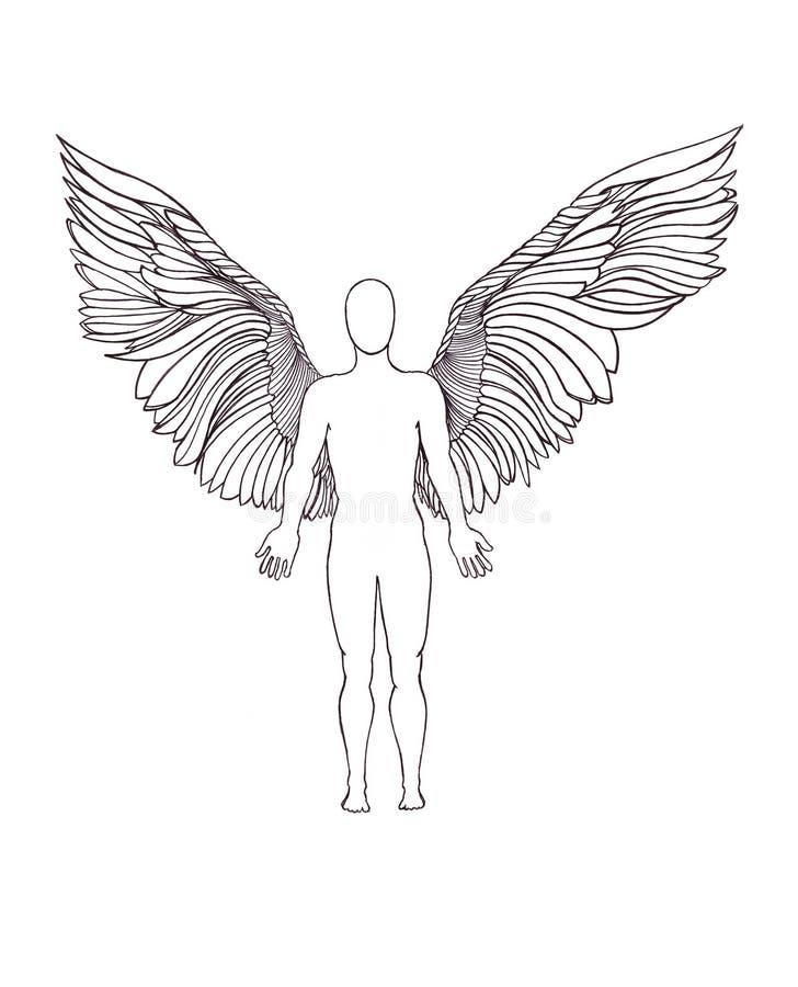 Figura di un angelo illustrazione vettoriale