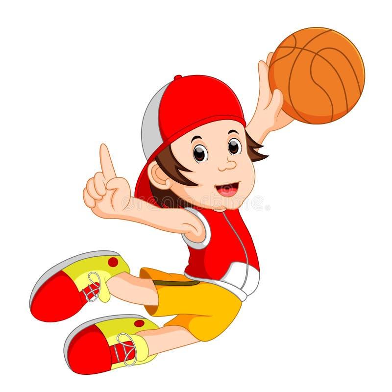 Figura divertida del hombre de la bola de la cesta libre illustration