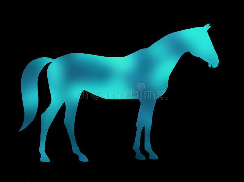 A figura do azul do cavalo ilustração royalty free