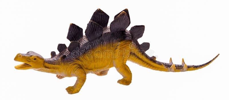 A figura do brinquedo do dinossauro do Stegosaurus isolou-se imagem de stock royalty free