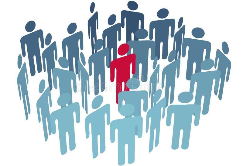 Figura do centro do homem chave em povos da companhia do grupo ilustração stock