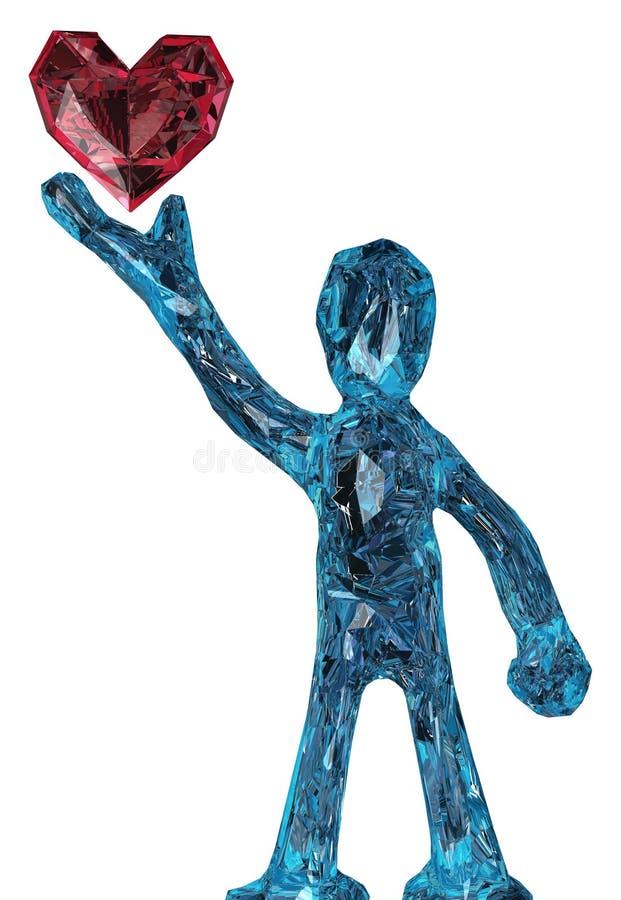 Figura do coração da joia ilustração do vetor