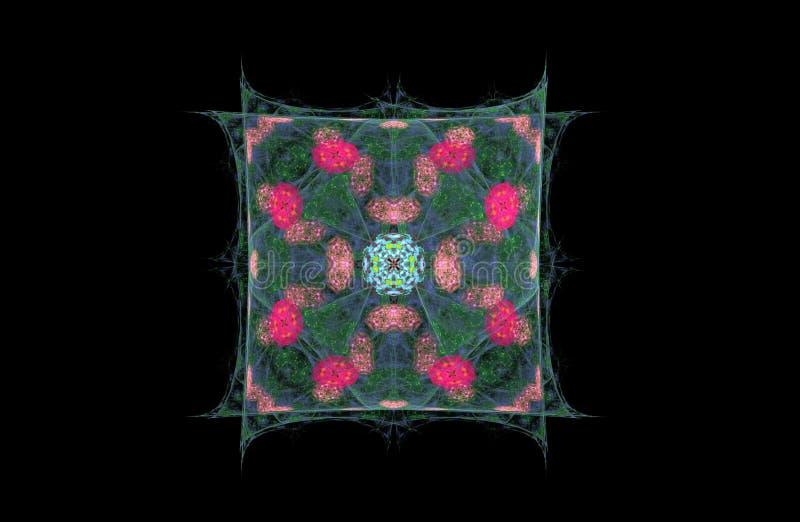 Figura do fractal do sumário do quadrado ilustração stock