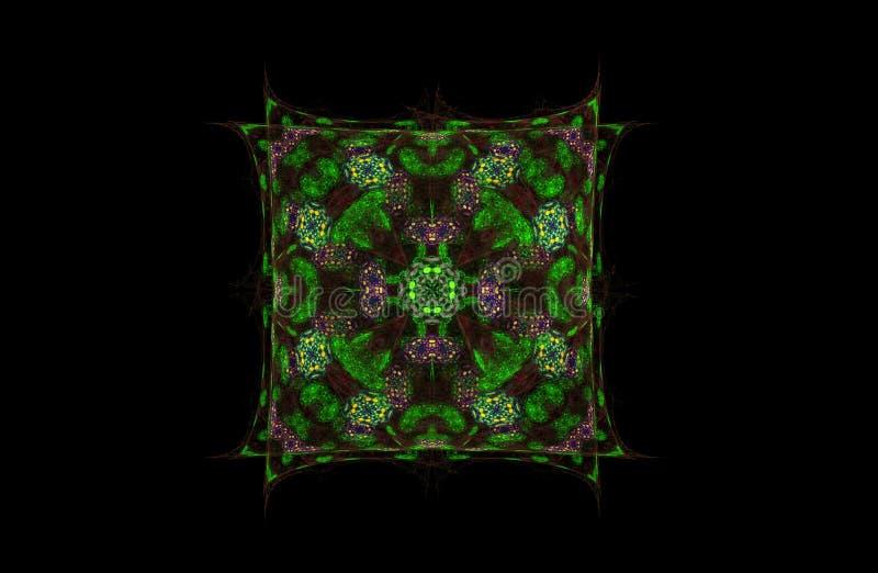 Figura do fractal do sumário do quadrado fotografia de stock