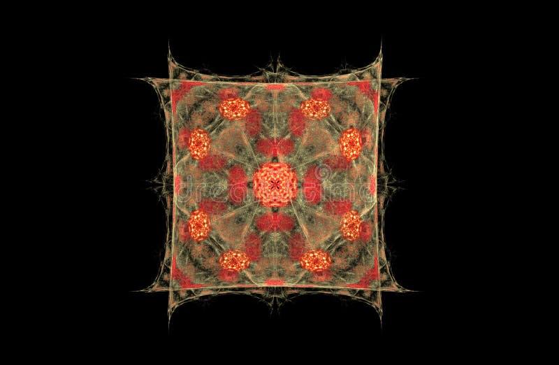 Figura do fractal do sumário do quadrado fotografia de stock royalty free