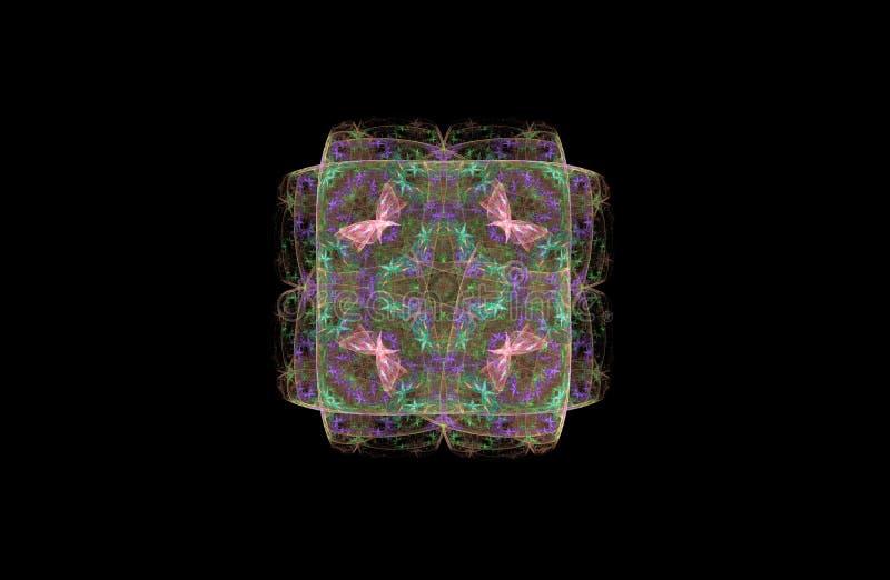 Figura do fractal do sumário do quadrado imagens de stock