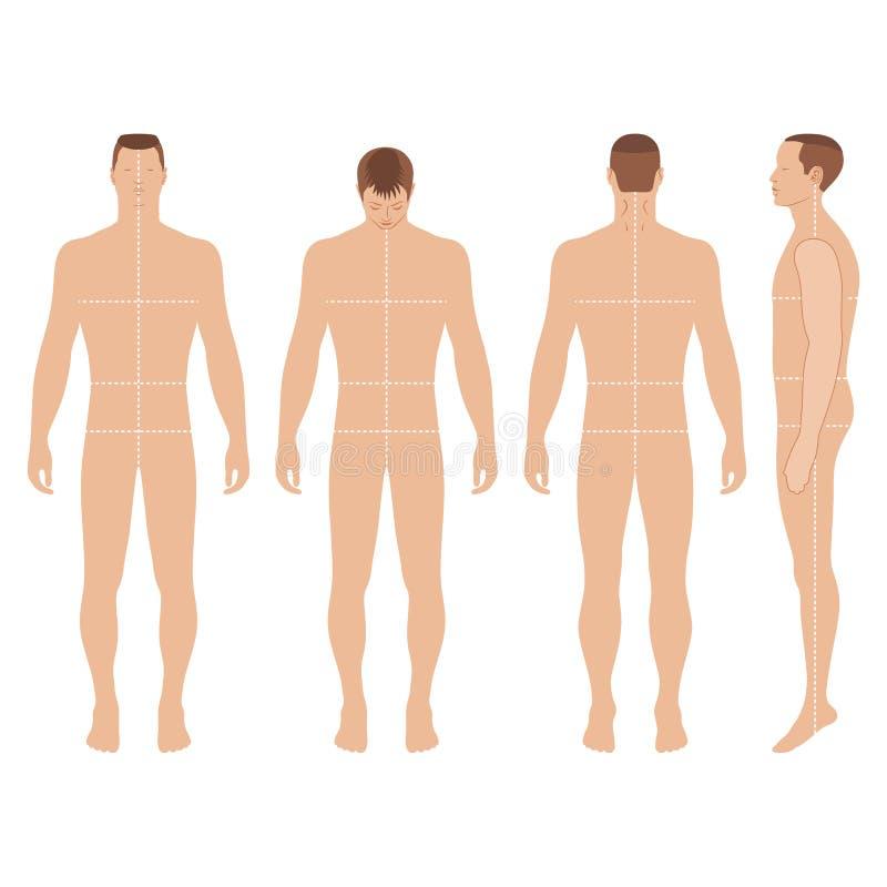 Figura do homem da forma ilustração stock