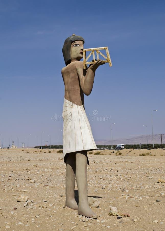 Figura do homem egípcio antigo fotografia de stock royalty free