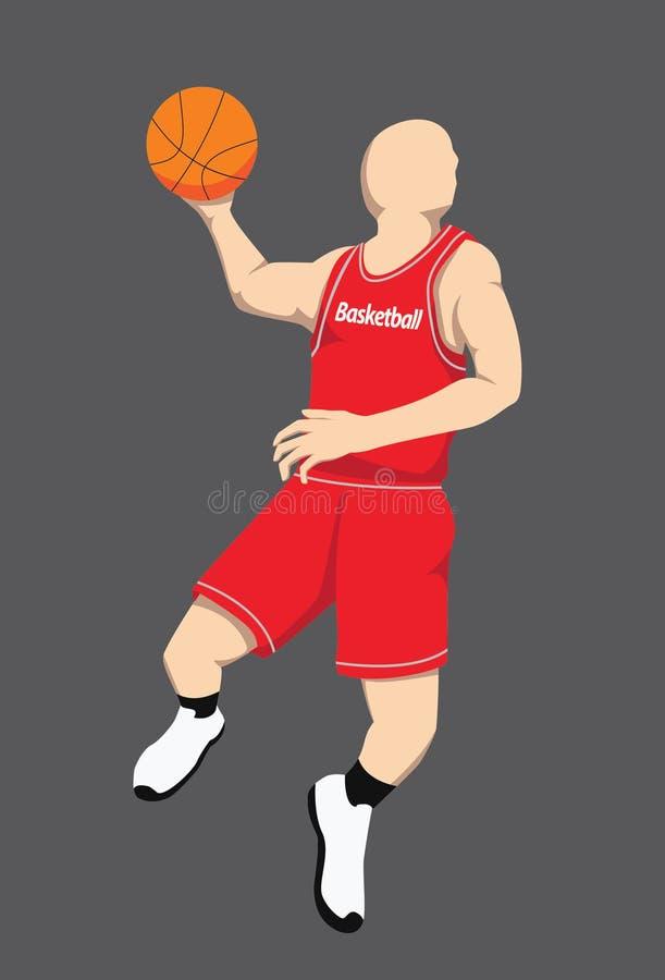 Figura do jogador de basquetebol ilustração royalty free