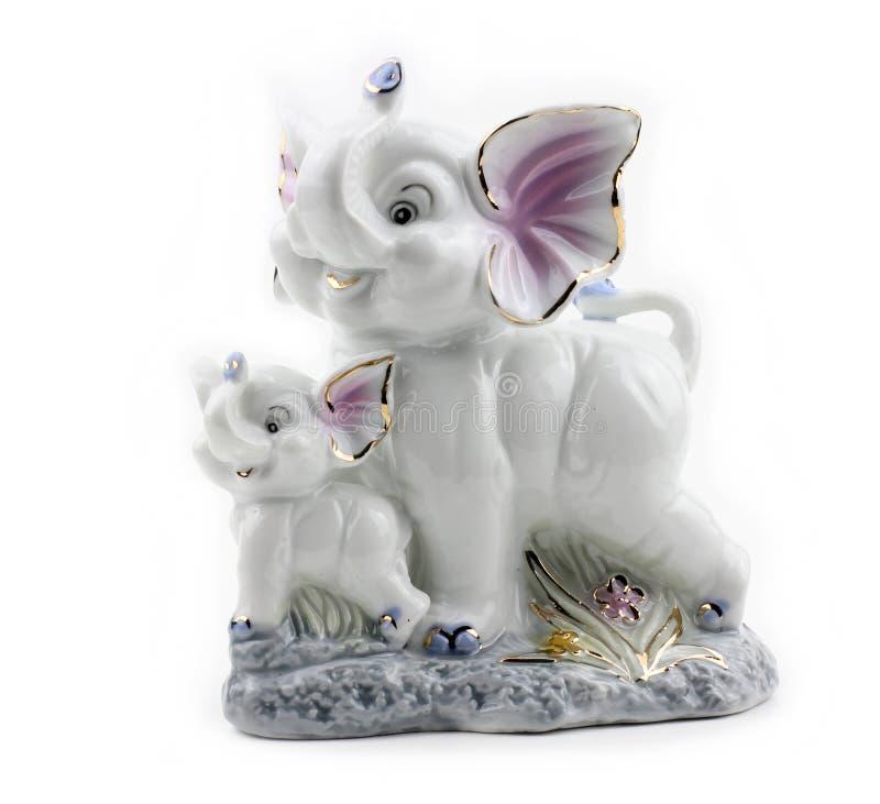 Figura dos elefantes brancos imagens de stock