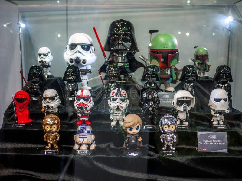 Figura dos Star Wars de Hottoys mini fotografia de stock royalty free