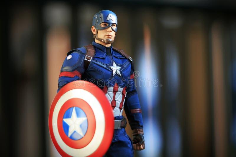 Figura dos superheros do capitão America Civil War fotos de stock royalty free