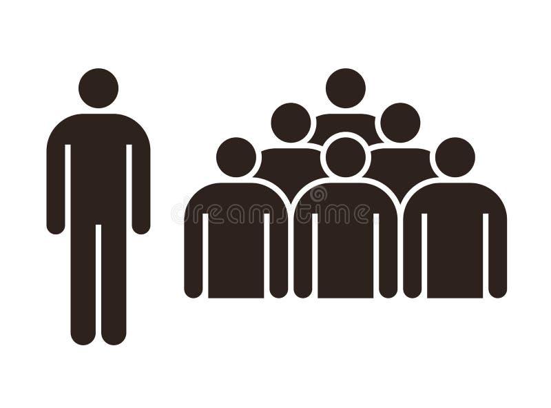 Figura e gruppo di persone umani illustrazione di stock