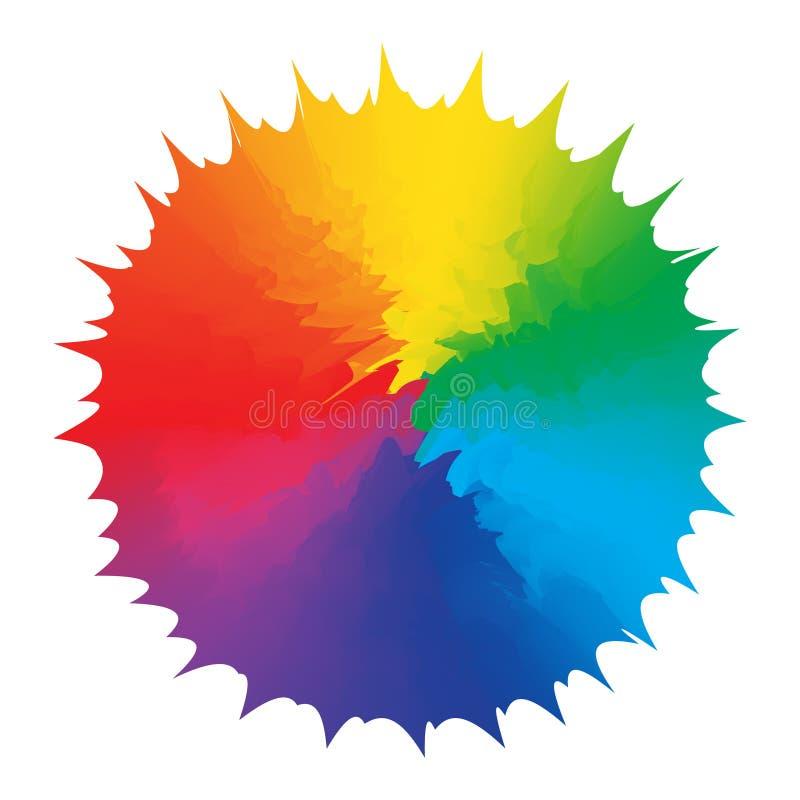 Figura elemento de la abstracción del diseño del arco iris de los multicolors ilustración del vector