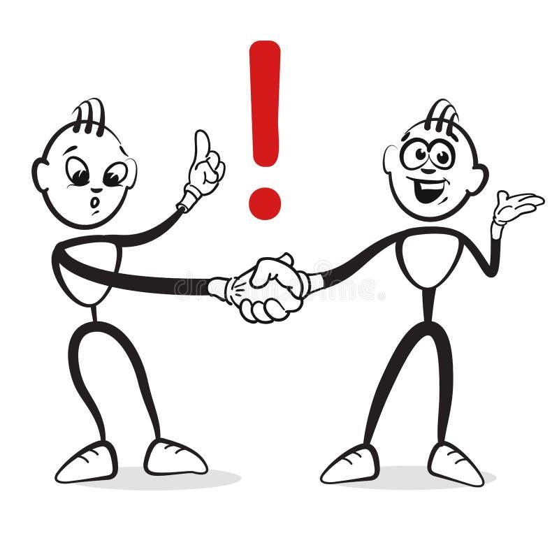Figura emoções da vara da série - interesses ilustração do vetor