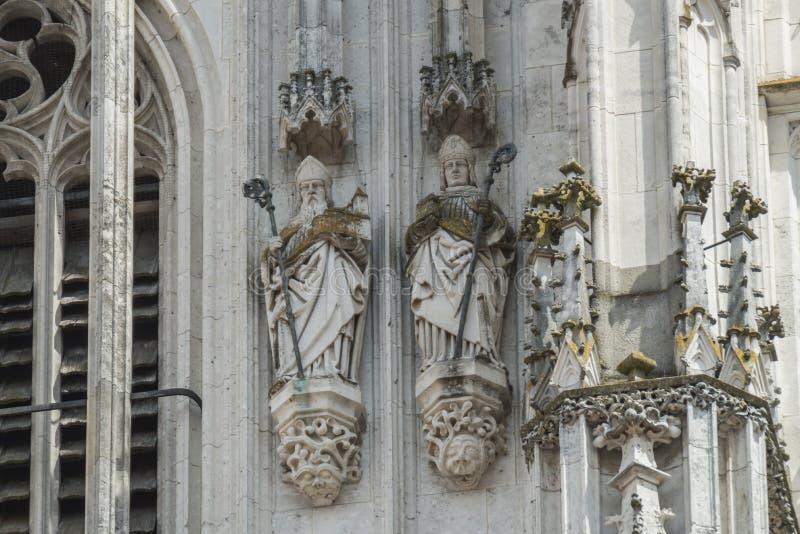 Figura en Dom St Peter en Regensburg fotografía de archivo
