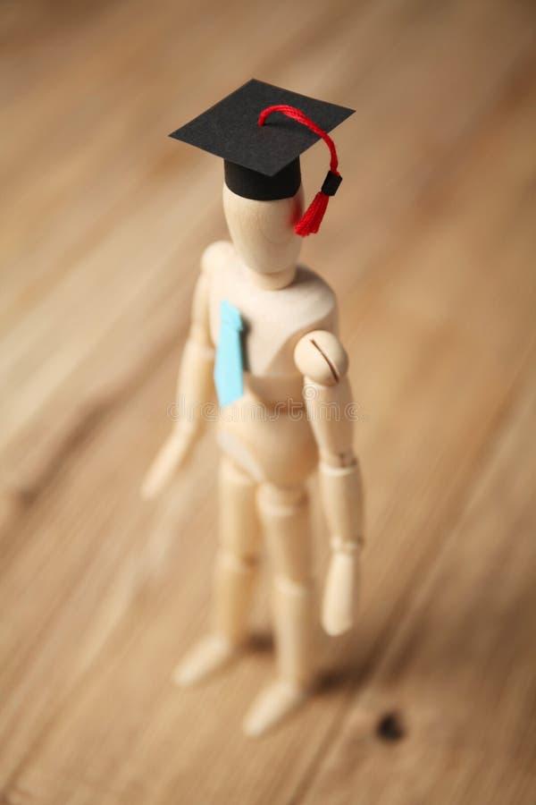 Figura, entrenamiento y educaci?n de madera del estudiante fotografía de archivo