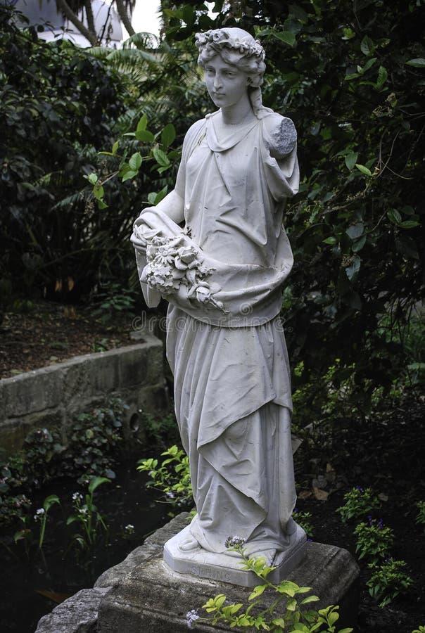 Figura estatua de la primavera Estatuario de mármol en los jardines botánicos reales, Sydney de la herencia foto de archivo libre de regalías