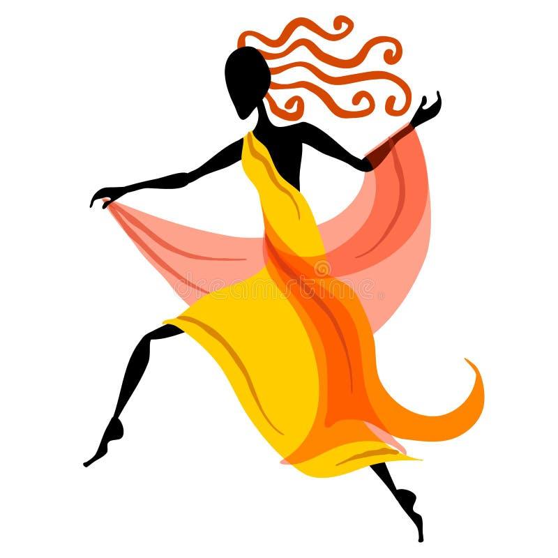 Figura fêmea 1 do dançarino ilustração royalty free
