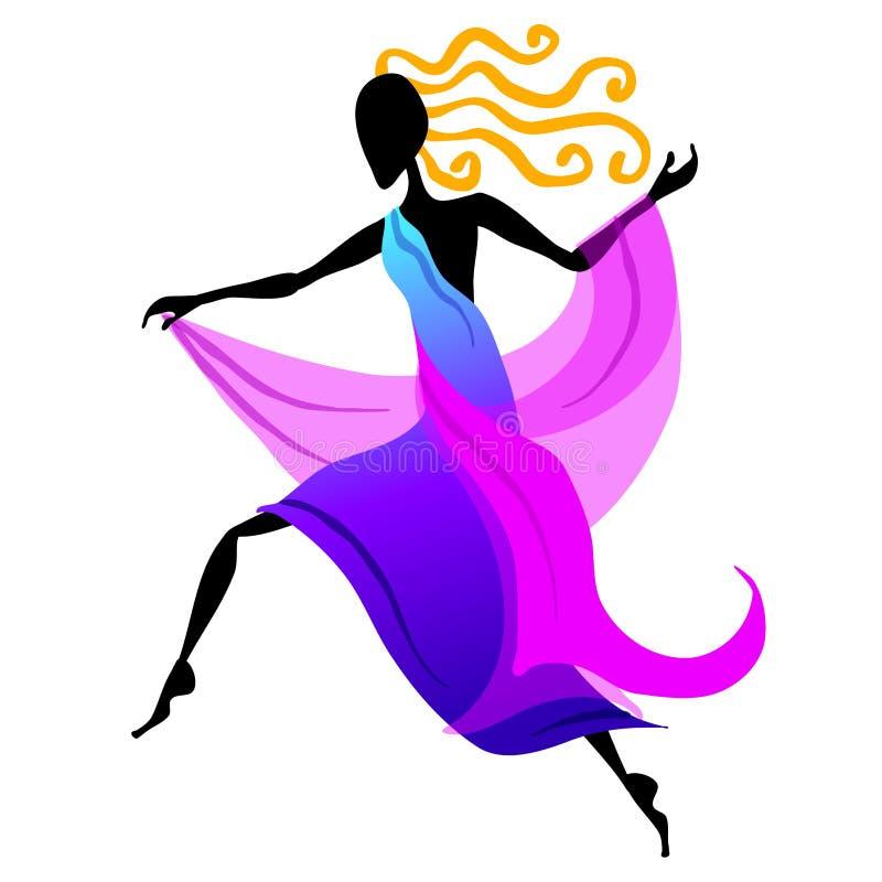 Figura fêmea 2 do dançarino ilustração stock