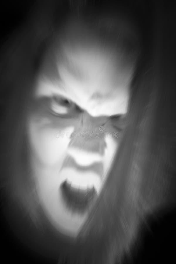 Figura fantasmal asustadiza foto de archivo