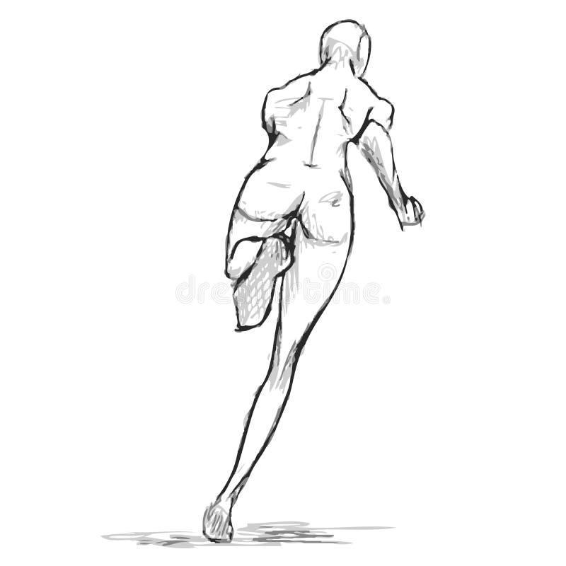 Download Figura Femenina Bosquejo Del Corredor De Detrás Vector Ilustración del Vector - Ilustración de carrocería, fase: 42433610