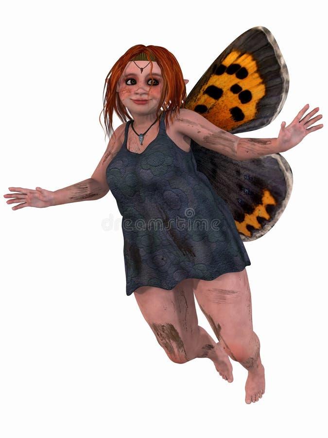 Figura femminile di fantasia illustrazione vettoriale