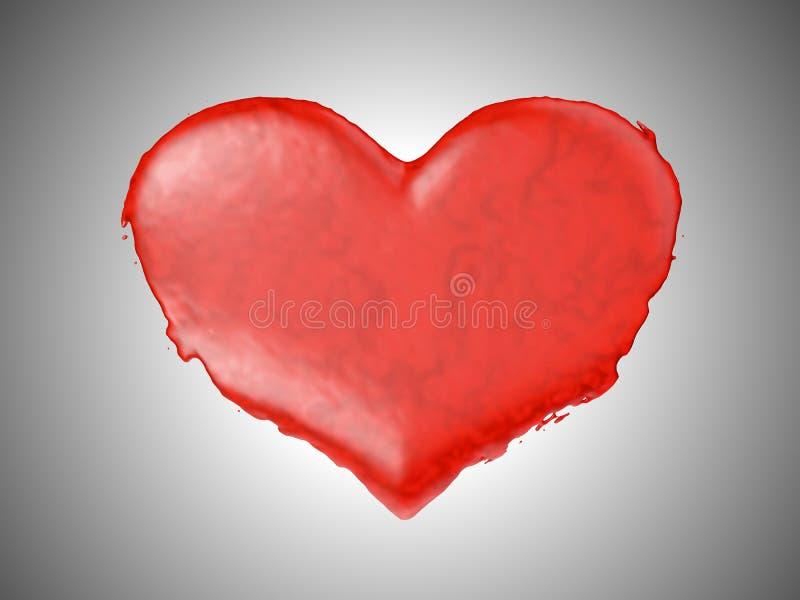 Figura fluida rossa del cuore - vino o anima illustrazione vettoriale