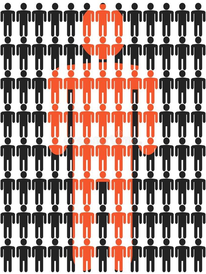 Figura fondo del bastone della gente illustrazione di stock