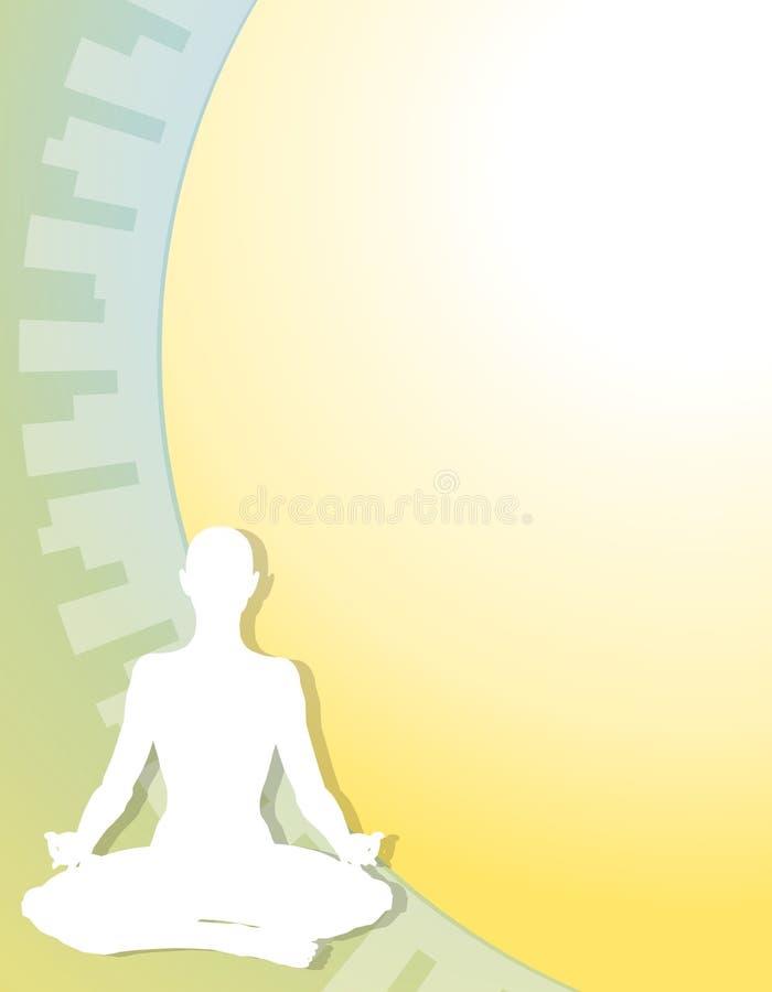 Figura fundo da ioga da aptidão ilustração do vetor