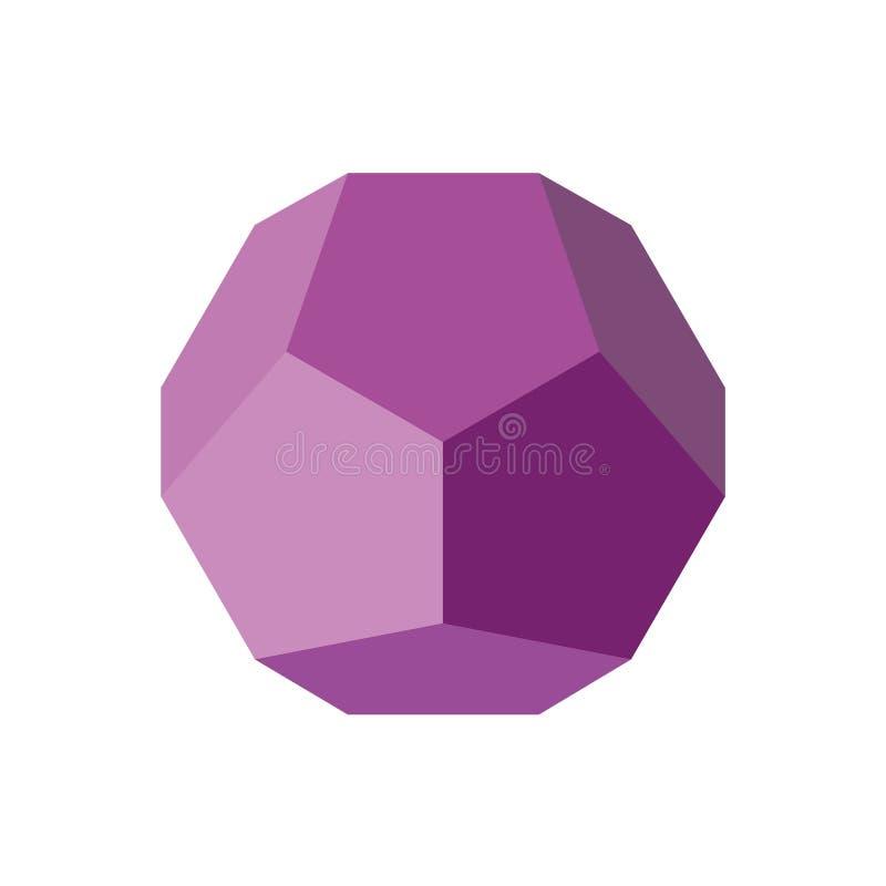 Figura geométrica colorida ilustração do vetor: Dodecahedron ilustração do vetor