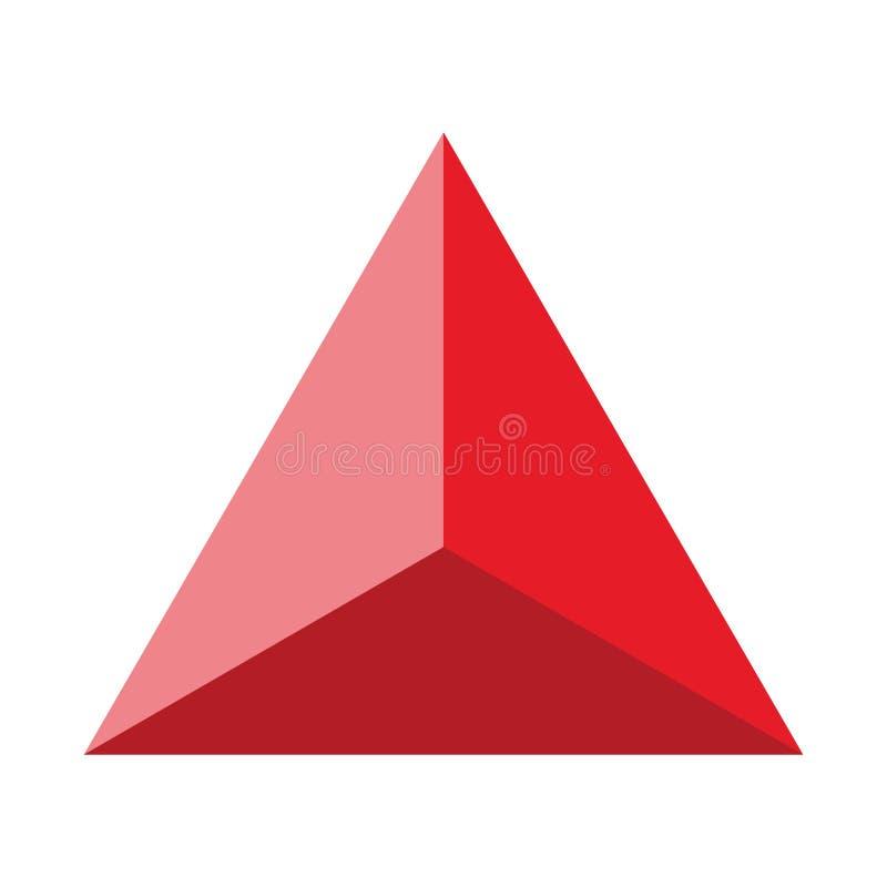 Figura geométrica colorida ilustração do vetor: Pirâmide ilustração do vetor