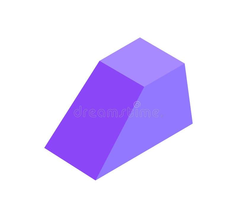 Figura geométrica combinada prisma, bandeira colorida ilustração royalty free