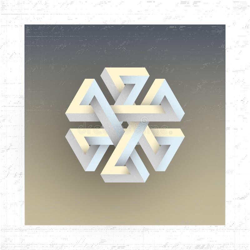 Figura geométrica imposible irreal, elemento del vector libre illustration