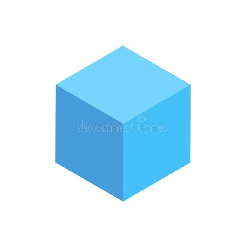 Figura geometrica isolata Cuboid blu icona del modello royalty illustrazione gratis