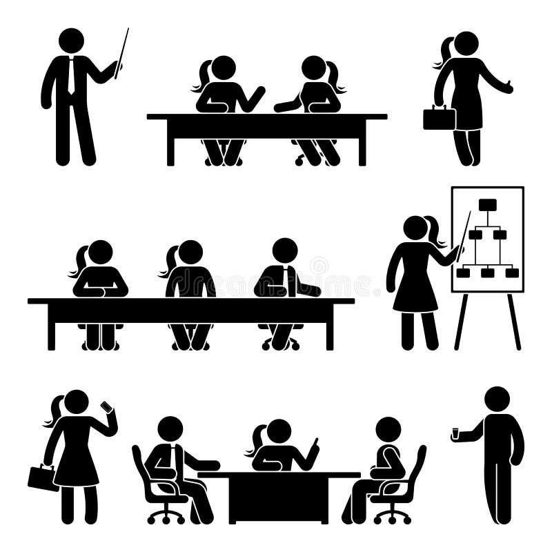 Figura grupo da vara do ícone da apresentação do negócio ilustração royalty free