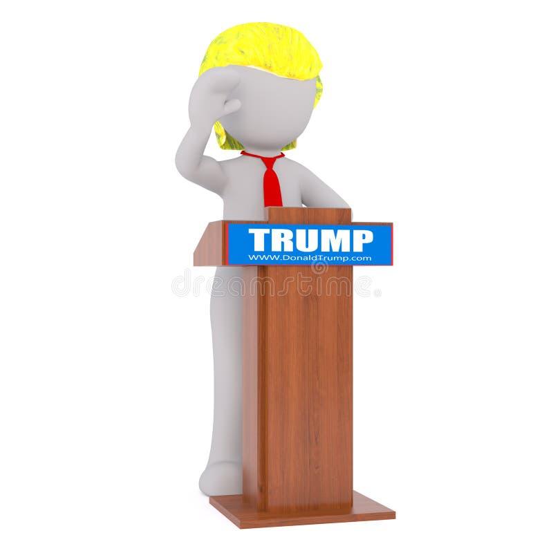 Figura homem de Donald Trump de 3D ilustração royalty free