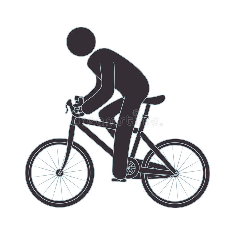Figura humana bici del montar a caballo stock de ilustración
