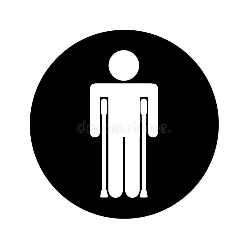 Figura humana con fracturas ilustración del vector