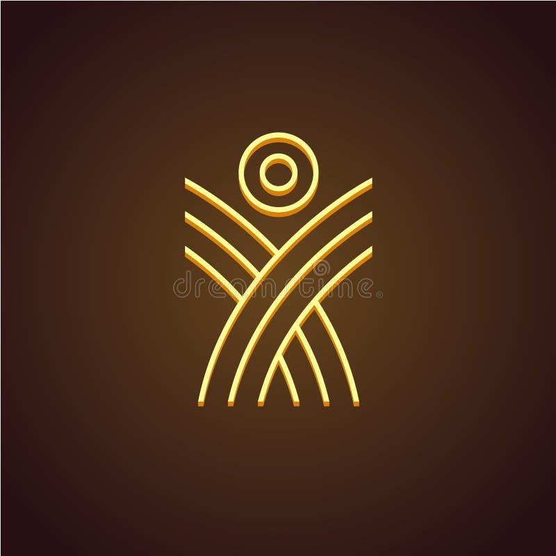 Figura humana logotipo linear ilustração stock