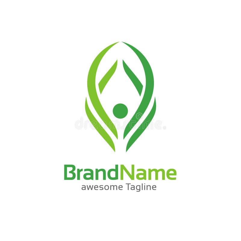 Figura humana molde do logotipo da aptidão ilustração royalty free