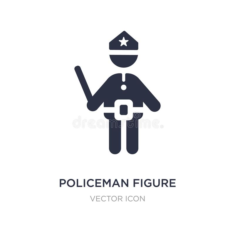 figura icono del policía en el fondo blanco Ejemplo simple del elemento del concepto de la gente libre illustration