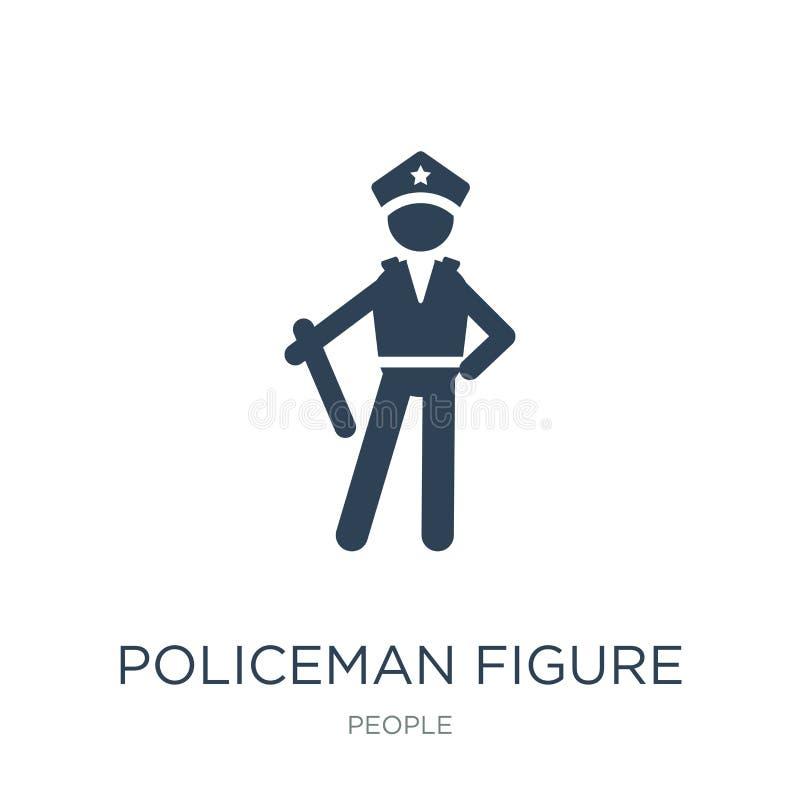 figura icono del policía en estilo de moda del diseño figura icono del policía aislado en el fondo blanco figura icono del policí ilustración del vector