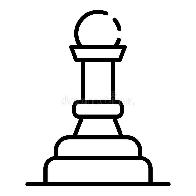 Figura icono, estilo del empeño del ajedrez del esquema libre illustration