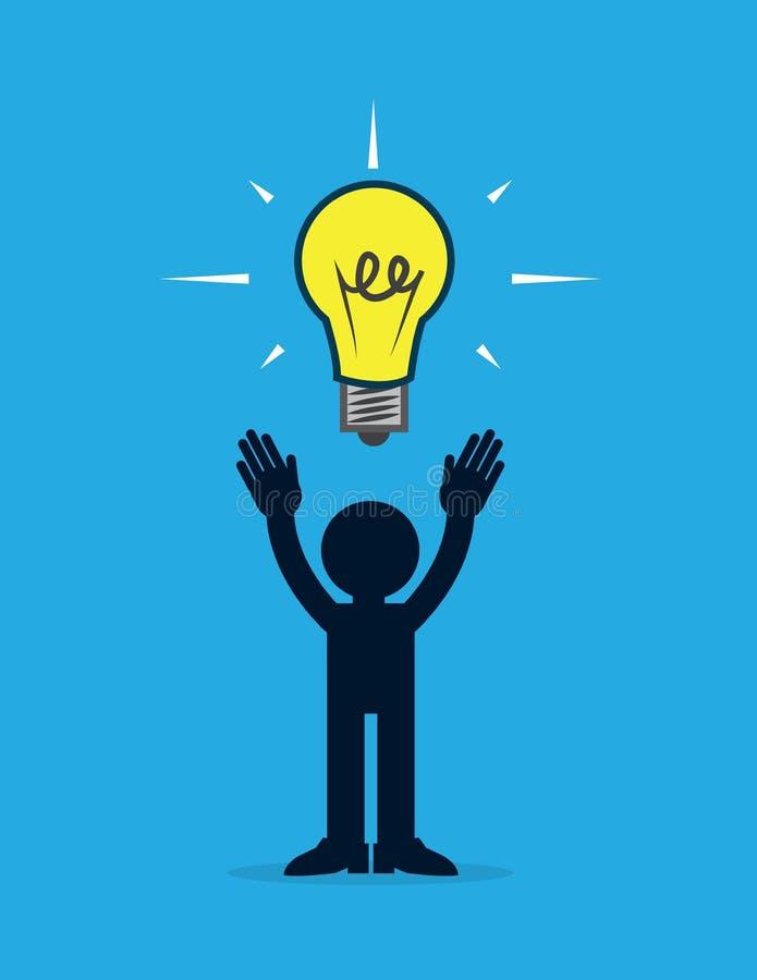 Figura idea della lampadina illustrazione di stock