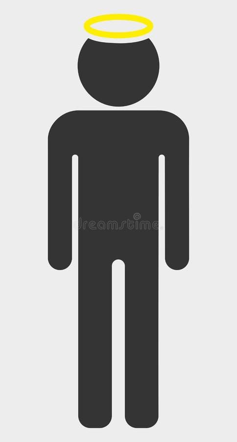 Figura illustrazione dell'uomo santo dell'icona di vettore illustrazione di stock